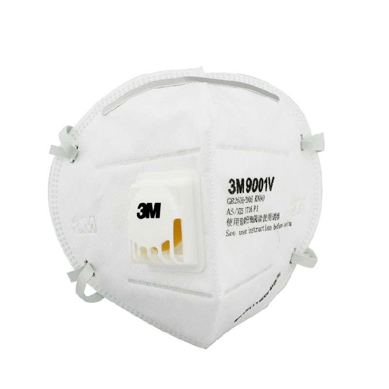 3M 9001KN90 环保装折叠防尘口罩 5只装/袋 白色