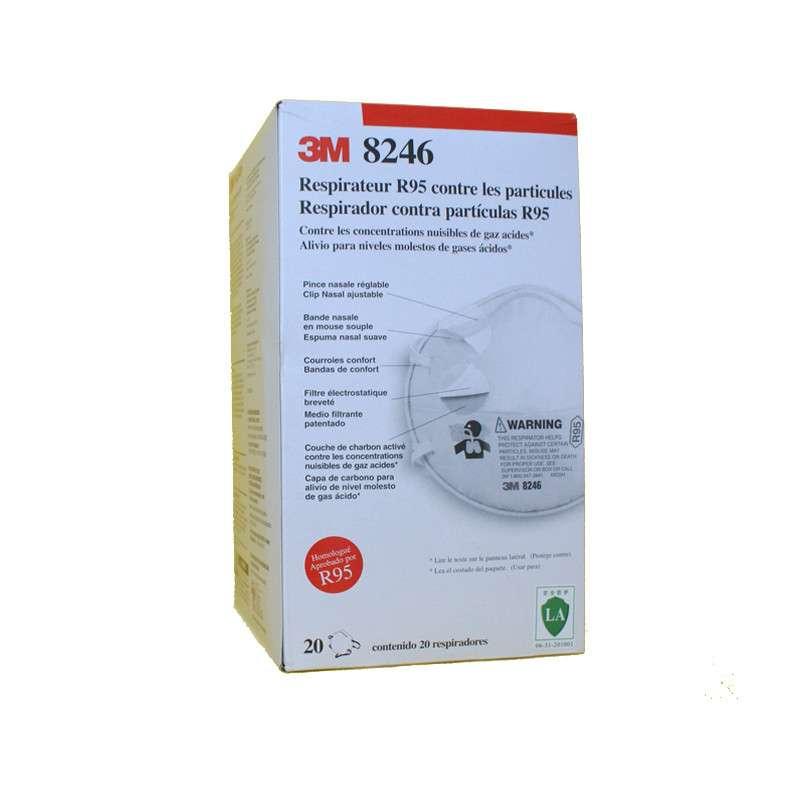 3M 8246R95 酸性气体防尘口罩