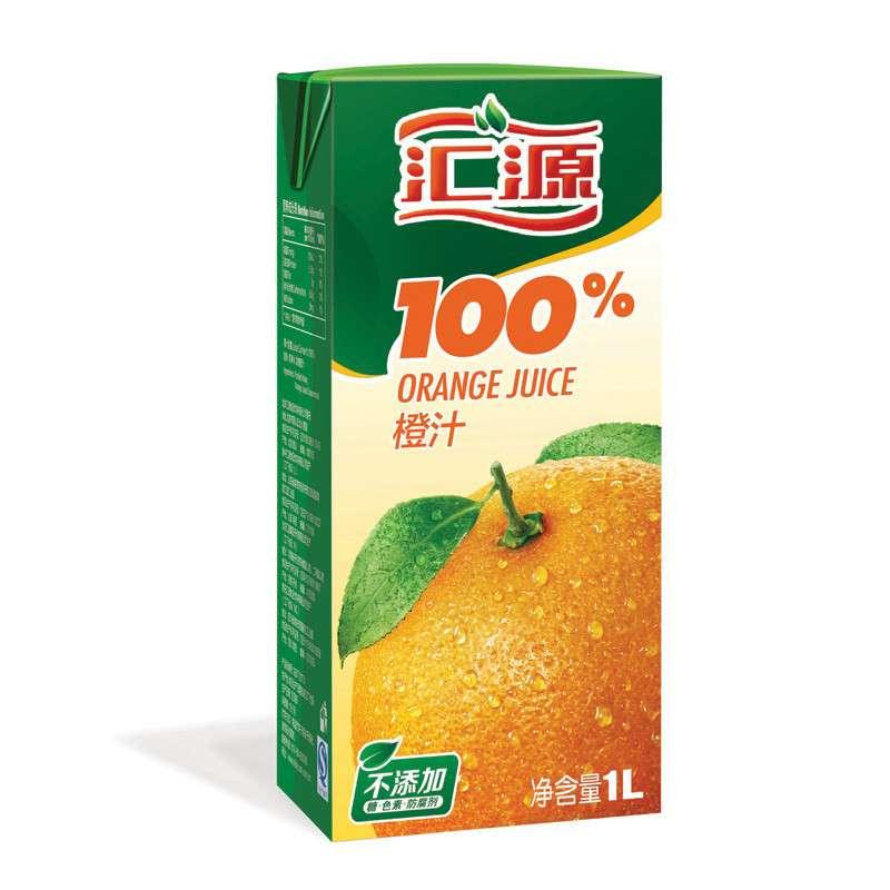 汇源果汁官网_汇源100%橙果汁1l 6盒 便携装