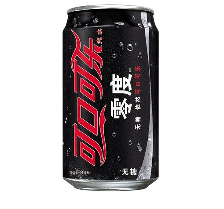 可口可乐 2361 零度可口可乐330ml 24罐 黑