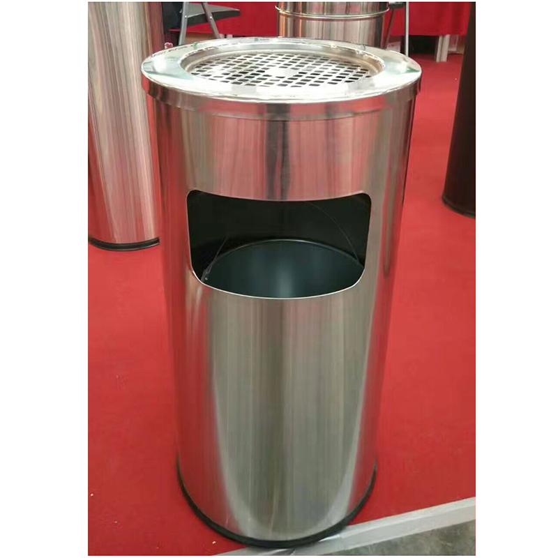 国产30*61cm 圆形不锈钢垃圾桶