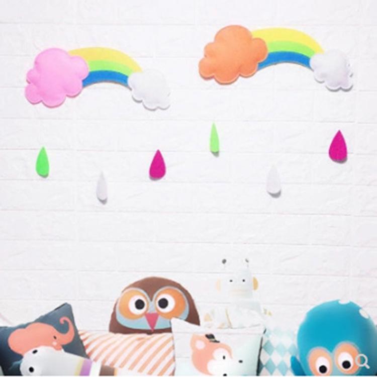 帝塔欧 dto-002 幼儿园童装店等手工彩虹雨滴布艺立体