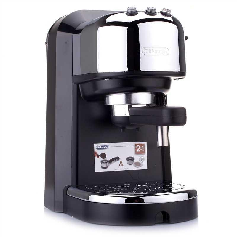 意大利德龙 EC270 泵压式花式咖啡机 黑色