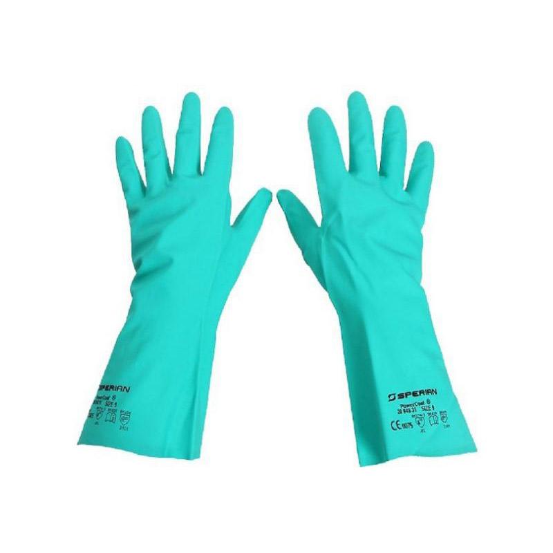 霍尼韦尔 2094831 丁腈防化手套 绿