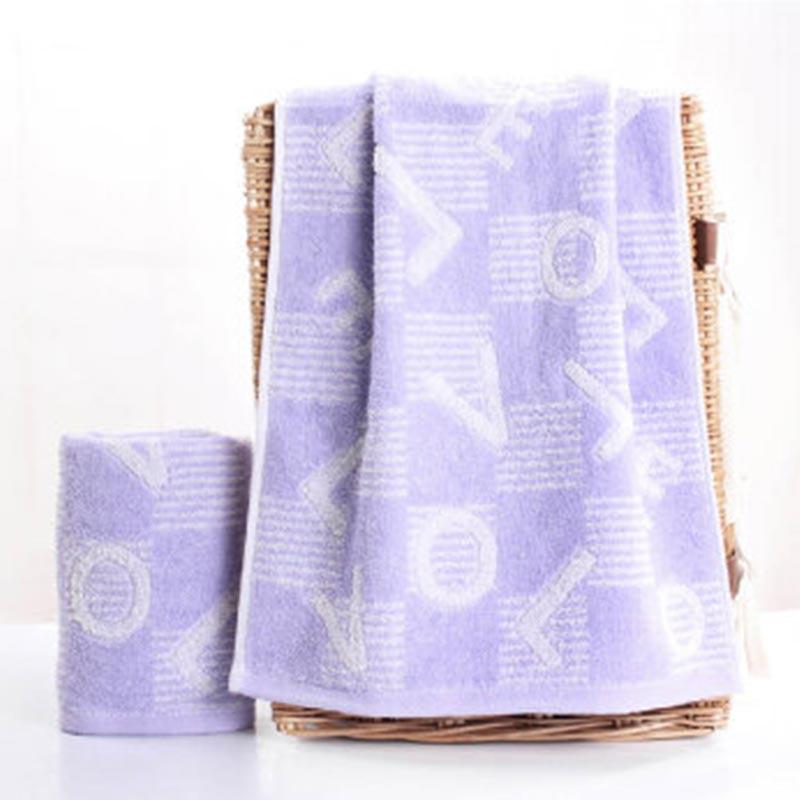 金号 HY9411  LOVE提花纯棉毛巾 单条装 紫色