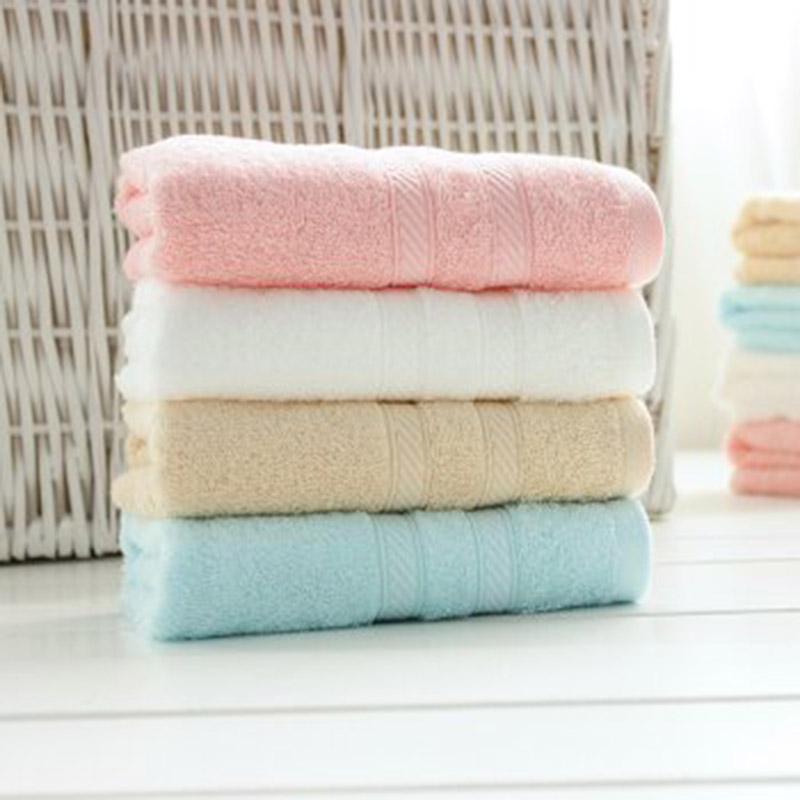 洁丽雅 纯棉柔软舒适面巾 4条家庭装红蓝白米4条装
