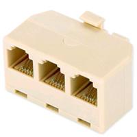 IT-CEO V7D3 电话线一分三转接盒/延长器 灰色