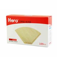 Hero 原色木质纤维纸咖啡过滤纸102号 100片