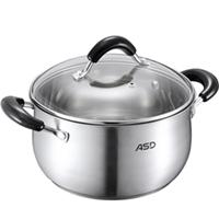 爱仕达 QB1724 24cm美式可视复底加厚不锈钢汤锅