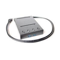 索厉 SL-ZKU203 台式机软驱位 USB3.0 黑色