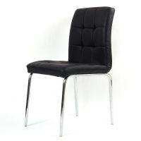 尼德(need)亚当系列 日韩式简约餐椅子 时尚耐用韩皮椅 多用途电脑椅子 AE31C 黑色PU