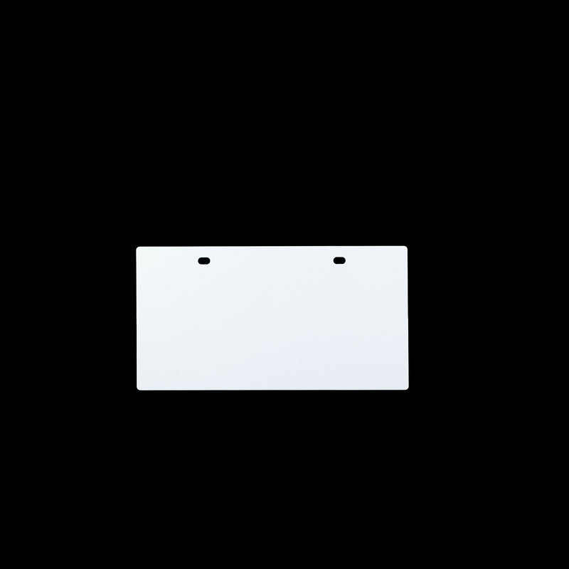 桥兴 M-G80120 120mm*80mm 50片/包 四孔铝合金电缆标牌 白色 适用于m-300 C-450P c-330p c-460p