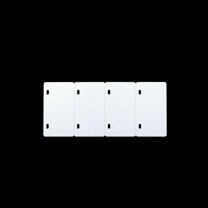 桥兴 M-G4580 双孔四连体80mm*45mm 500片/包 电缆挂牌 白色 适用于m-300 C-450P c-330p c-460p